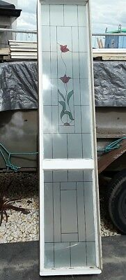 Side light for front door, hardwood frame,  patterned  glass,  440 x 2110 high