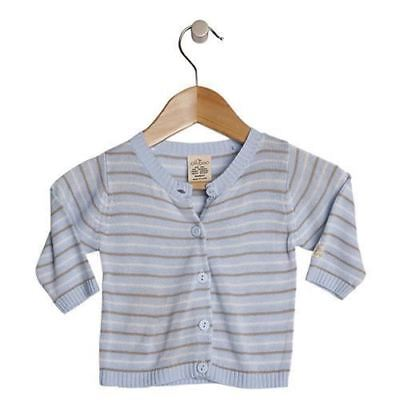 Baby Knit Cardigan Jacket by Olliboo Organic Bamboo Clothes Sweater New Blue Boy