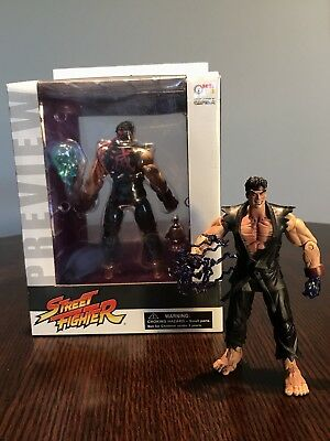 RARE! Street Fighter EVIL RYU Preview Action Figure By SOTA Toys! W/Loose Bonus!
