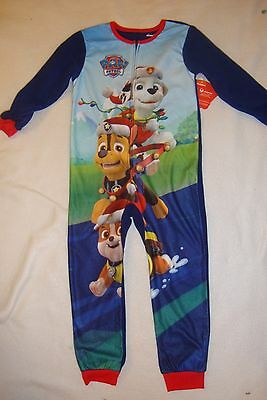 "Paw Patrol   ""oh So Soft"" Fleece 1 Piece Christmas Pajamas  Nwts"