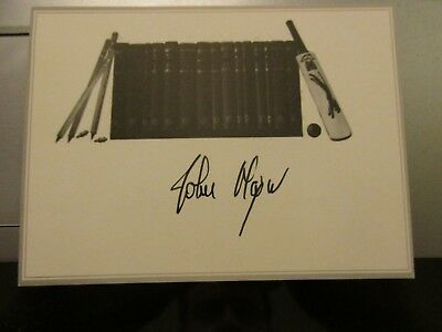 Sir John Major Hand Signed Bookplate....Prime Minister of United Kingdom.