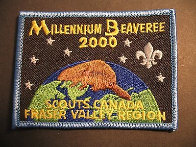 Boy Scouts Canada Beavers Fraser Valley Region B.c. 2000 Beaveree Cubs Patch