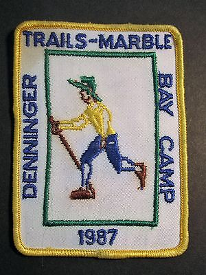Boy Scouts Denninger Trails Marble Bay Camp 1987 Embroidered Patch