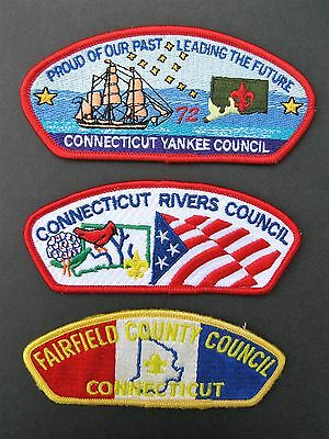Boy Scouts Of America 3 Connecticut Yankee Bsa Csp Council Shoulder Patch