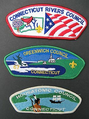 Boy Scouts Of America 3 Connecticut Greenwich  Bsa Csp Council Shoulder Patch