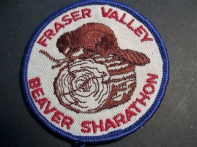 Boy Scouts Canada Beavers Fraser Valley Sharathon Patch Canadian Beaver Cubs