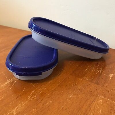 2x Tupperware Modular Mates with Lacquer Blue Seals