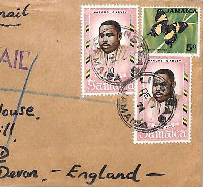 AN257 Commonwealth 1971 JAMAICA *Linstead* REGISTERED Commercial Airmail Cover