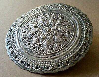 ANTIQUE OTTOMAN ORIENTAL HAND FORGET SILVER ALLOYS DECORATION FOR HEAD 19th cent