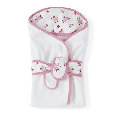 Aden and Anais Baby Bath Hooded Towel Wrap Muslin Cotton Hood Princess Possie