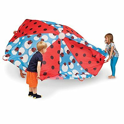 """Pacific Play Tents Kids """"Lady Bug"""" 8 Foot Parachute with handles & Carry Bag ..."""