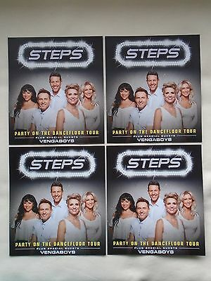 """STEPS Live """"Party on the Dance-floor"""" 2017 UK Arena Tour Promo tour flyers x 4"""