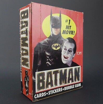 Topps Batman Movie Cards, Stickers, & Bubble Gum Series #1 Vintage 1989