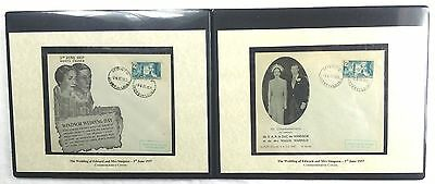 Royal Covers Edward & Mrs Simpson Wedding Ceremony Postmarked Exact Time & Place