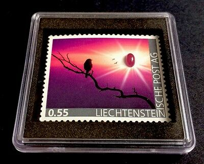 Liechtenstein 2017 First Ruby - Stamp in World 1. Rubin - Marke Edelsteine MNH