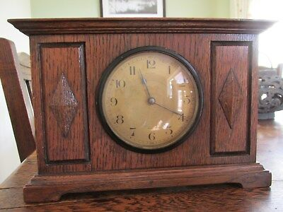 WH May of Nottingham Mantle clock French movement Oak Frame