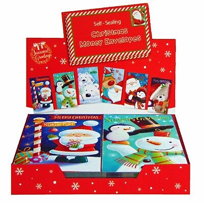 3 Assorted Christmas Money Envelopes Wallets Self Seal Xmas Gift Cash Gift Card