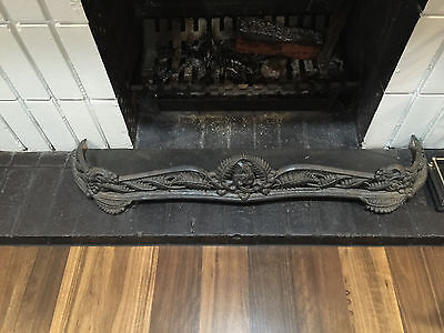 Antique Wrought Iron fireplace fender