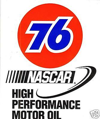 Union 76 NASCAR Motor Oil Decal