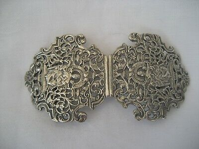 Splendid Silver Plated Nurse's Buckle.