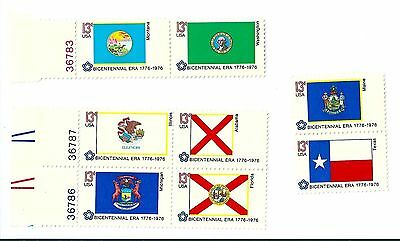 United States Bicentennial Flag stamps 1976