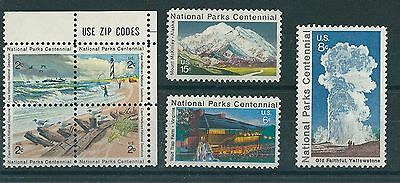 United States National Parks Centennial Issue Postage Stamps 1972