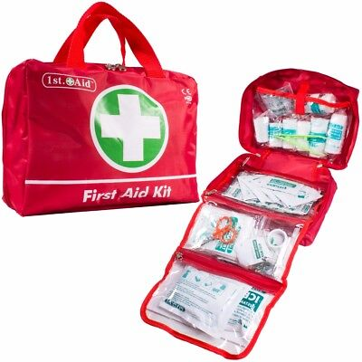 70Pc Large First Aid Kit Emergency Bag Home Office School Travel 2019 Expiry