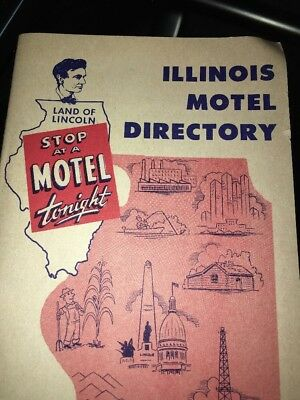 Vintage Illinois Hotel Directory Guide 1957 American Motel Association