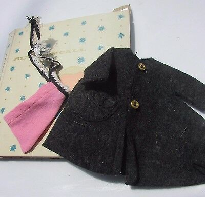 """Vintage Betsy McCall 8"""" Doll Coat Pink Hat in Original Box 1957 B-1 Gorgeous"""