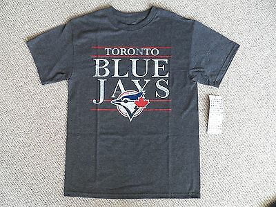 MEDIUM BLUE JAYS DK GREY OFFICIAL MLB Baseball T Shirt NEW Strong Toronto Canada