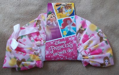Girls Shower Cap - Disney - Pink with BELLE - Beauty & the Beast - New