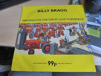 """Billy Bragg - Waiting For the Great Leap Forward, (7"""" Vinyl) original."""