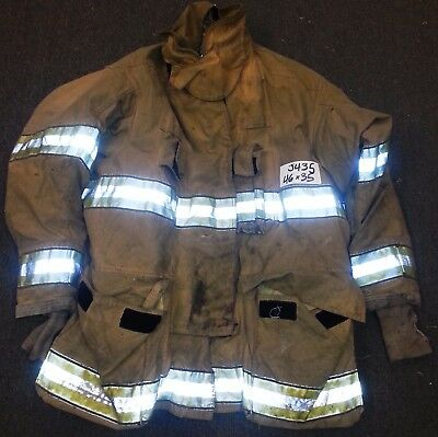 46x35 Firefighter Jacket Coat Bunker Turn Out Gear Globe Gxtreme  J435
