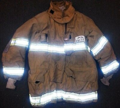 46x35 Firefighter Jacket Coat Bunker Turn Out Gear Globe Gxtreme  J436