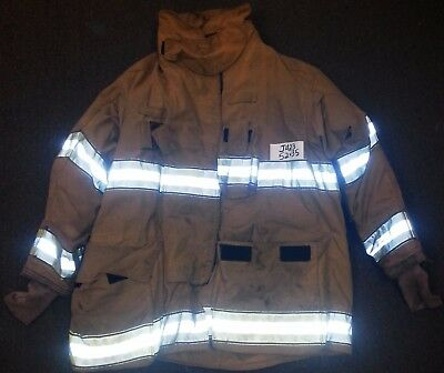 52x35 Firefighter Jacket Coat Bunker Turn Out Gear Globe Gxtreme     J423
