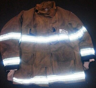 52x35 Firefighter Jacket Coat Bunker Turn Out Gear Globe Gxtreme  J428