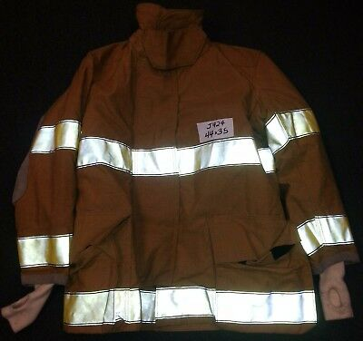 44x35 Firefighter Jacket Coat Bunker Turn Out Gear Globe Traditional     J424