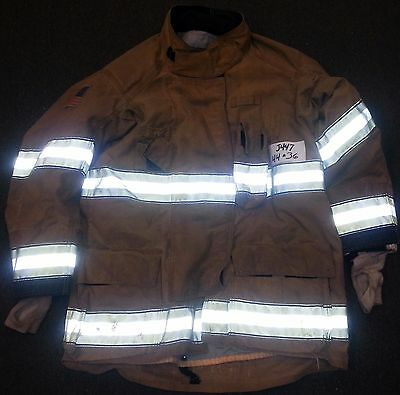 44x36 Firefighter Jacket Coat Bunker Turn Out Gear Globe Gxtreme  J447