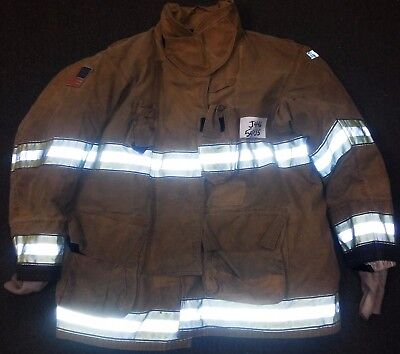 54x35 Firefighter Jacket Coat Bunker Turn Out Gear Globe Gxtreme  J446