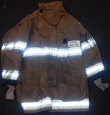 42x35 Firefighter Jacket Coat Bunker Turn Out Gear Globe Gxtreme 11-PBI  J449