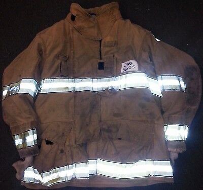 56x35 Firefighter Jacket Coat Bunker Turn Out Gear Globe Gxtreme    J466