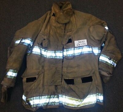 48x35 Firefighter Jacket Coat Bunker Turn Out Gear Globe Gxtreme  J433