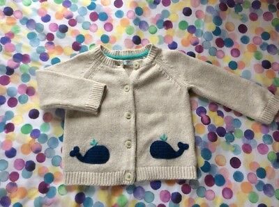 Baby Boden Whale Cardigan 6-12months