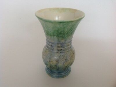 Vintage SylvaC Pottery Vase no 676 glazed in blue and green