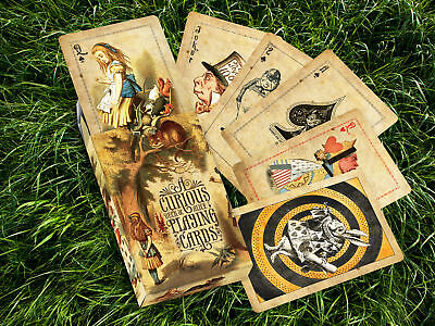 Alice in Wonderland 'Curious' Playing Cards - Vintage Victoriana Style