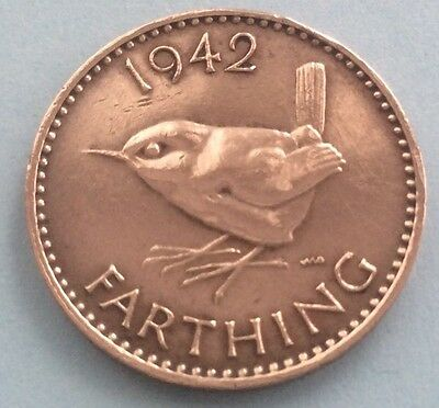 1942 King George Vi Farthing Coin 75Th Birthday