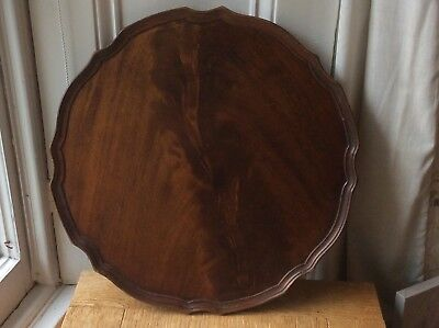 """Antique mahogany drinks butlers tray. 18"""" across"""