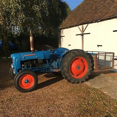 Fordson Dexta tractor with log box and roll bar