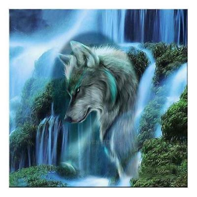 "Diamond Painting - Diamant Malerei - Stickerei - ""Wasserfall"" - Set - Neu (639)"