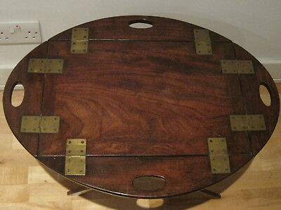 Georgian mahogany butlers tray,half scale, treen  Possibly an apprentice piece